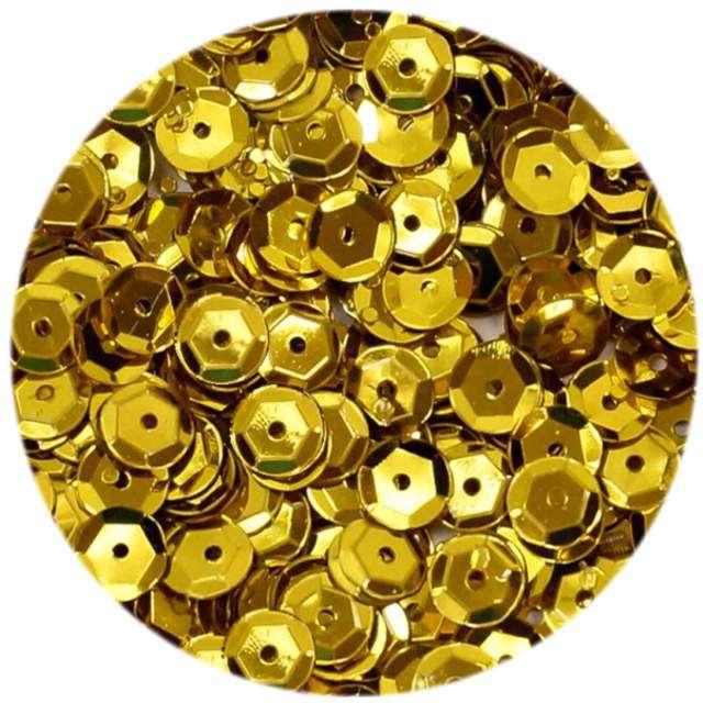 """Cekiny """"Classic Metalic"""", złote, 6 mm, 15 g, DekoracjePolska"""