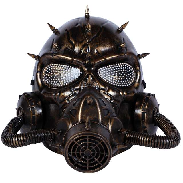 Maska Steampunk Gazowa Pełna Fyasa