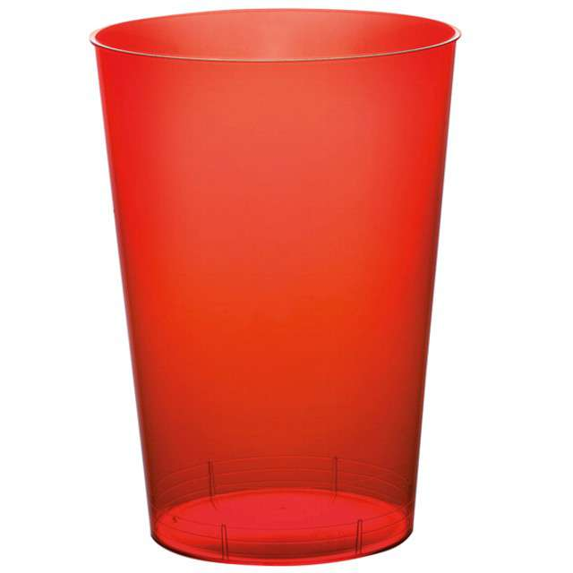 """Szklanki jednorazowe """"Drink Mini"""", czerwone, GoldPlast, 200 ml, 10 szt"""