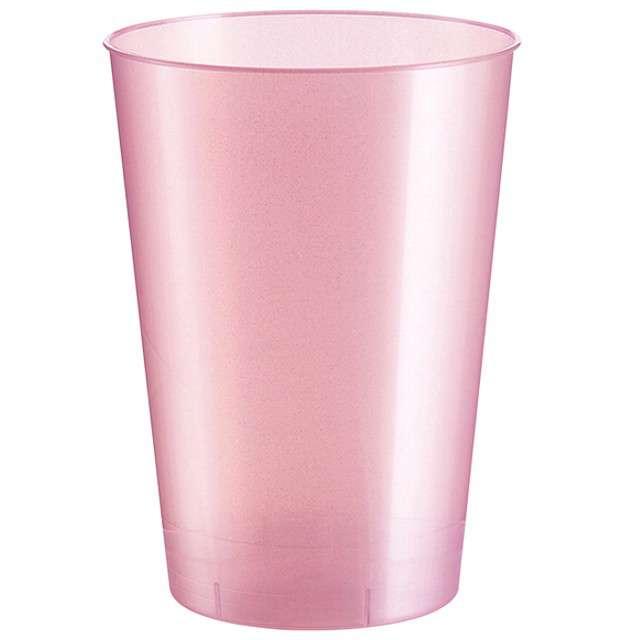 """Szklanki jednorazowe """"Drink Mini"""", różowe, GoldPlast, 200 ml, 10 szt"""