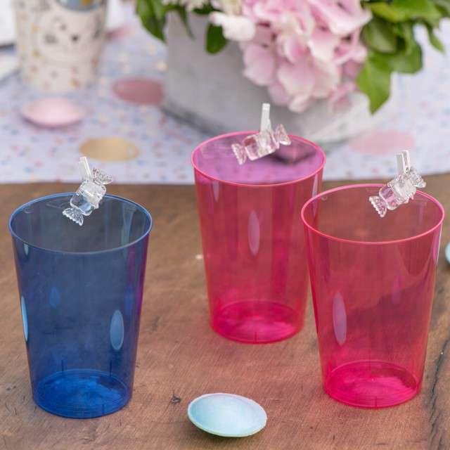 Szklanki jednorazowe Drink Mini różowe GoldPlast 200 ml 10 szt