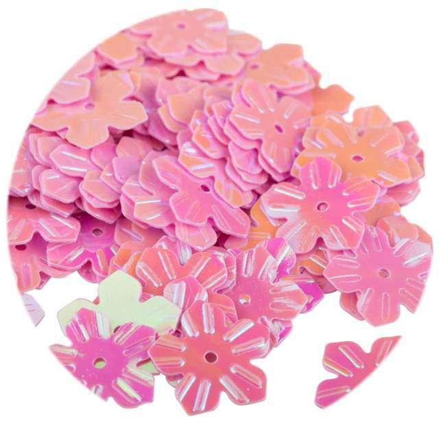"""Cekiny """"Kwiatki Pastel"""", różowe jasne, 12 mm, 6 g, Czakos"""