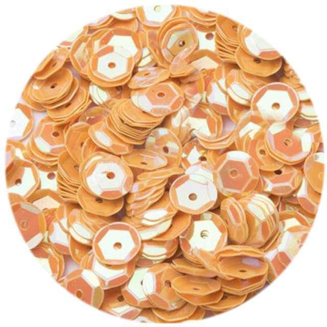 """Cekiny """"Classic Pastel"""", pomarańczowe, 6 mm, 12 g, Czakos"""
