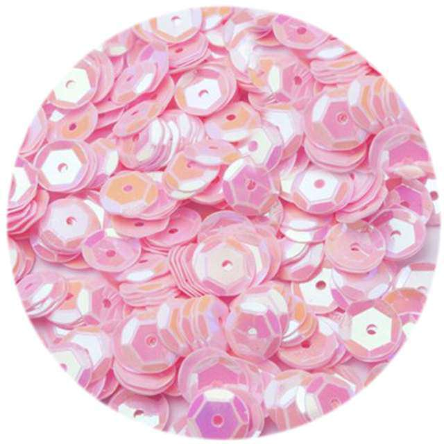 "Cekiny ""Classic Pastel"", różowe jasne, 6 mm, 12 g, Czakos"