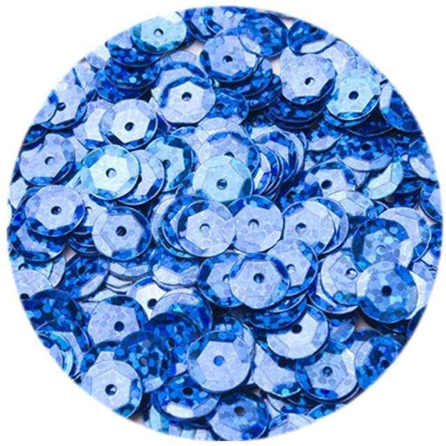 """Cekiny """"Classic Holo"""", niebieskie, 6 mm, 12 g, Czakos"""