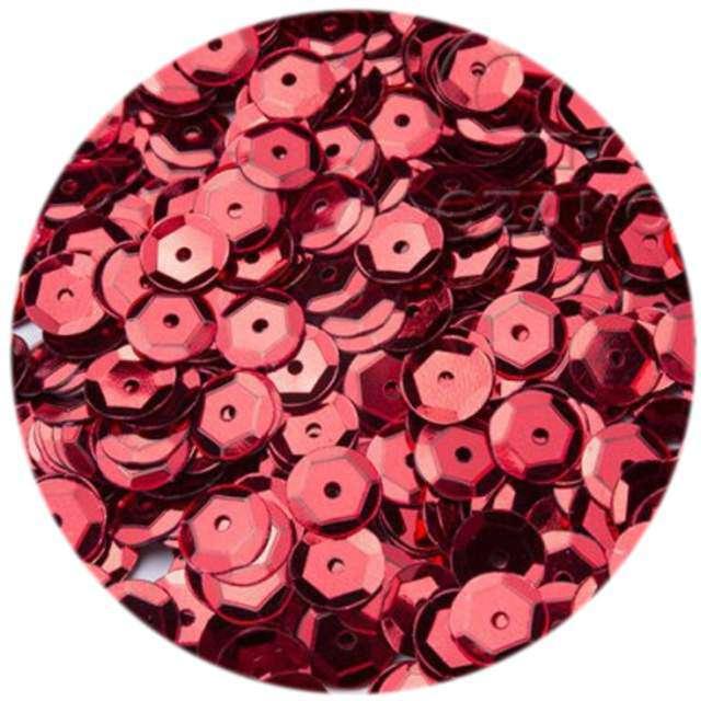 """Cekiny """"Classic Metalic"""", czerwone, 6 mm, 12 g, Czakos"""