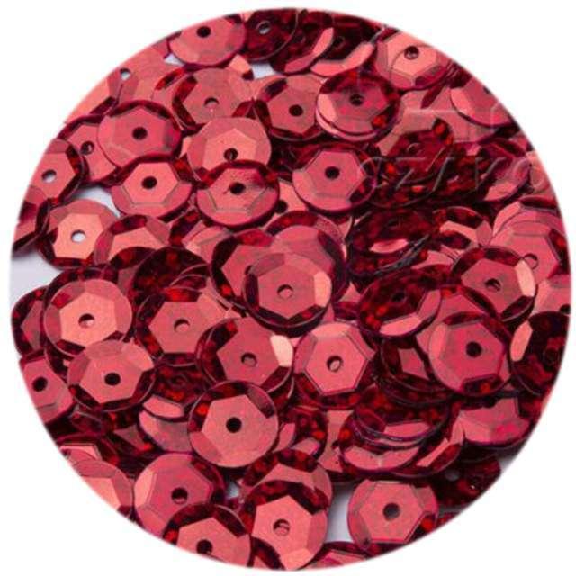 """Cekiny """"Classic Holo"""", czerwone, 6 mm, 12 g, Czakos"""