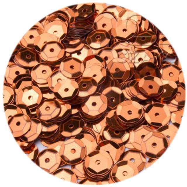 """Cekiny """"Classic Metalic"""", pomarańczowe, 6 mm, 12 g, Czakos"""