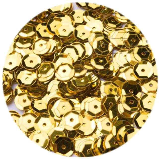 """Cekiny """"Classic Metalic"""", złote, 6 mm, 12 g, Czakos"""