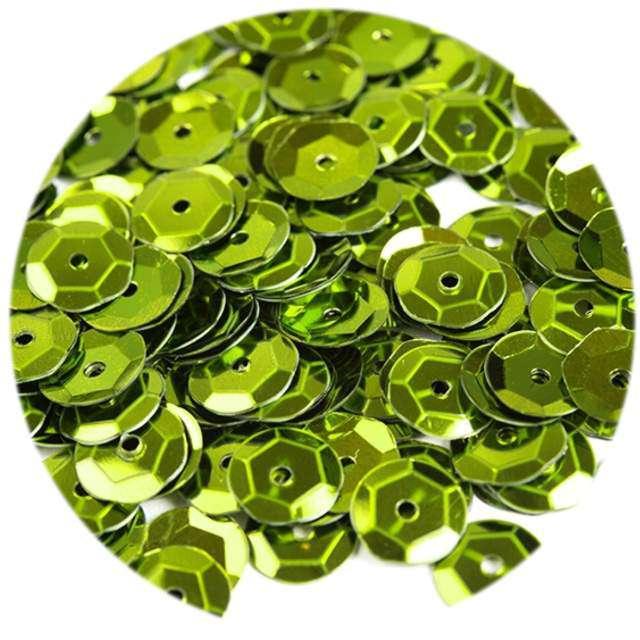 """Cekiny """"Classic Metalic"""", zielone jabłuszko, 6 mm, 12 g, Czakos"""
