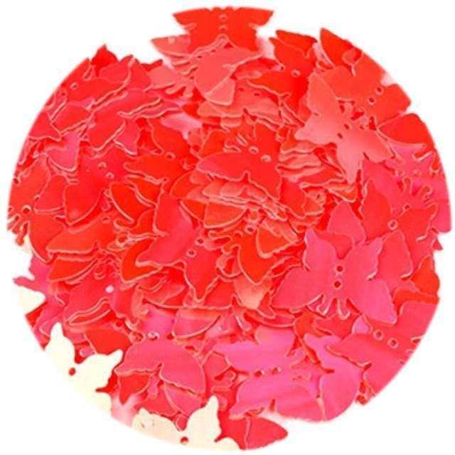 """Cekiny """"Motylek Pastel"""", czerwone, 12x16 mm, 100 szt, Czakos"""