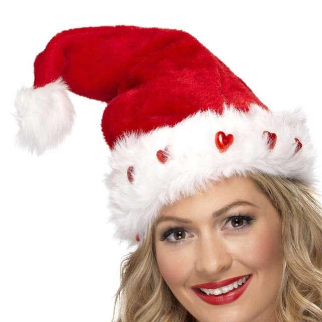 """Czapka """"Święty Mikołaj świecący"""", Smiffys"""