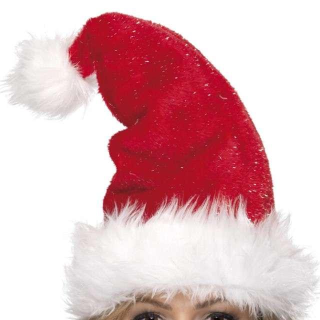 """Czapka """"Święty Mikołaj z futerkiem"""", Smiffys"""
