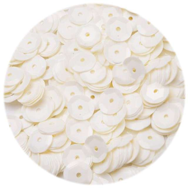 "Cekiny ""Classic Pastel"", ecru, 8 mm, 12 g, Czakos"