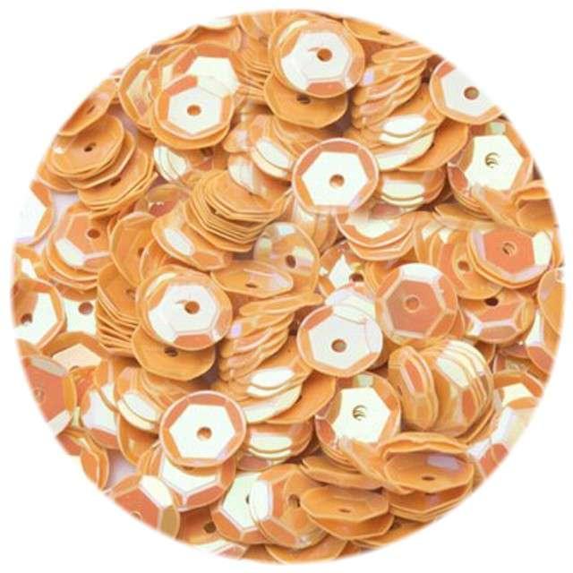 """Cekiny """"Classic Pastel"""", pomarańczowe, 8 mm, 12 g, Czakos"""
