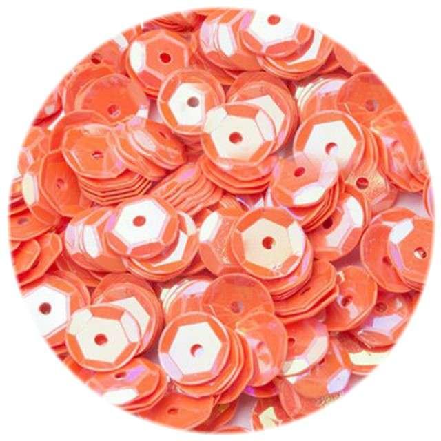 Cekiny Classic Pastel pomarańczowe ciemne 8 mm 12 g Czakos