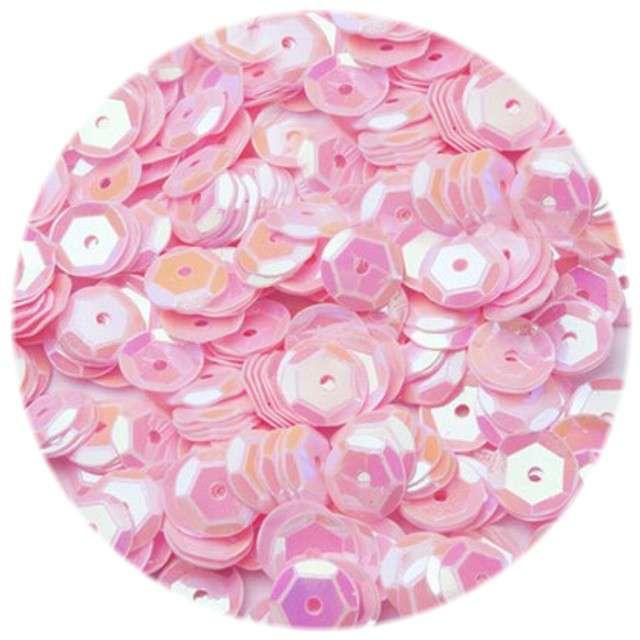 "Cekiny ""Classic Pastel"", różowe jasne, 8 mm, 12 g, Czakos"