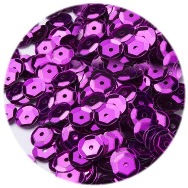 "Cekiny ""Classic Metalic"", purpurowe, 8 mm, 12 g, Czakos"