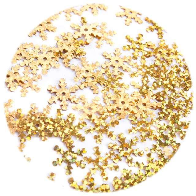 """Cekiny """"Śnieżynki XL Holo"""", złote, 18 mm, 200 szt, Czakos"""