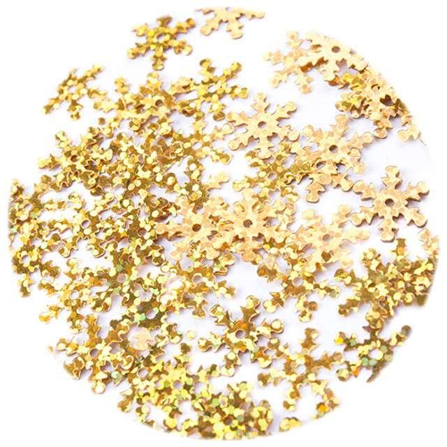 Cekiny Śnieżynki Holo złote 12 mm 200szt Czakos
