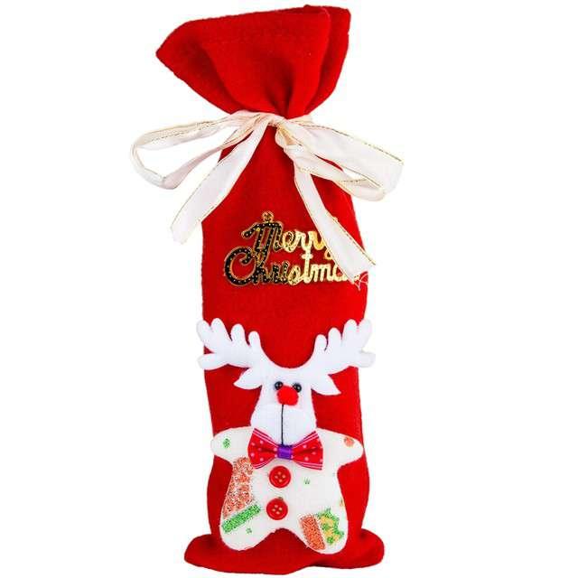 "Pokrowiec na butelkę ""Renifer - Merry Christmas"", Czakos"