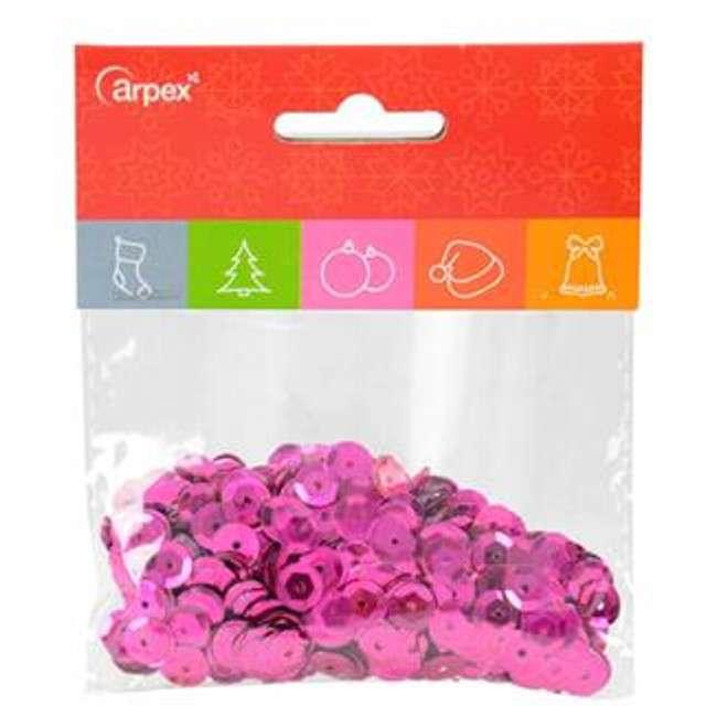 "Cekiny ""Classic Metalic"", różowe, 7 mm, 15 g, Arpex"