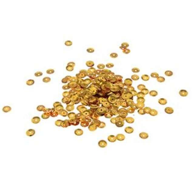 """Cekiny """"Classic Metalic"""", złote, 7 mm, 15 g, Arpex"""