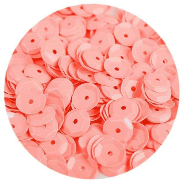 """Cekiny """"Classic Pastel"""", brzoskwiniowe, 8 mm, 12 g, Czakos"""