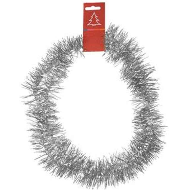 "Łańcuch Choinkowy ""Classic 5"", srebrny, 5 cm / 1,5 m, Arpex"
