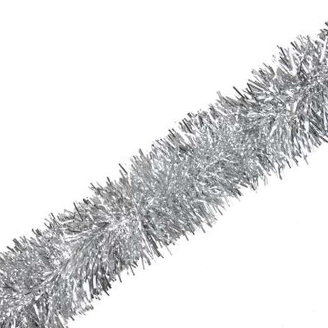 "Łańcuch Choinkowy ""Classic 6,5"", srebrny, 6,5 cm / 2 m, Arpex"