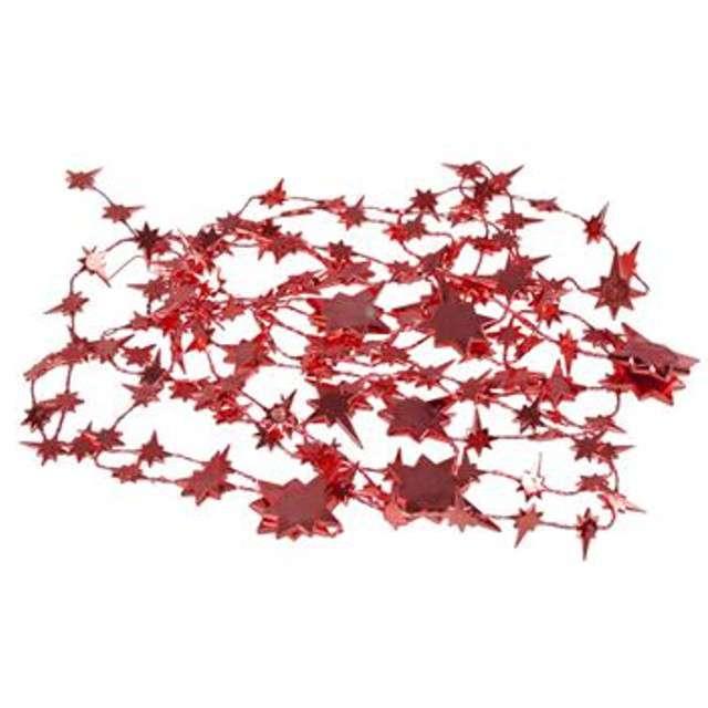 """Łańcuch Choinkowy """"Gwiazdki"""", czerwony, Arpex"""