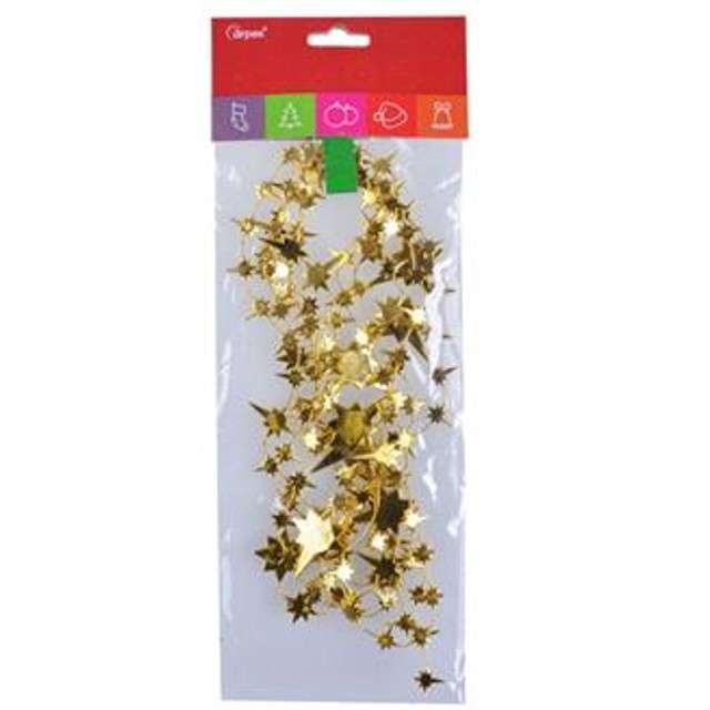Łańcuch Choinkowy Gwiazdki złoty Arpex