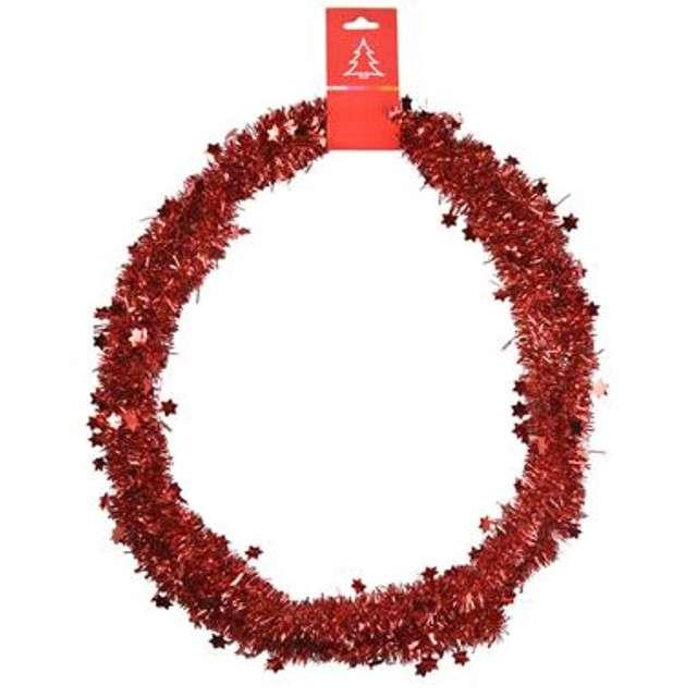Łańcuch Choinkowy Classic Gwiazdki 3 czerwony 3 cm / 2 m Arpex