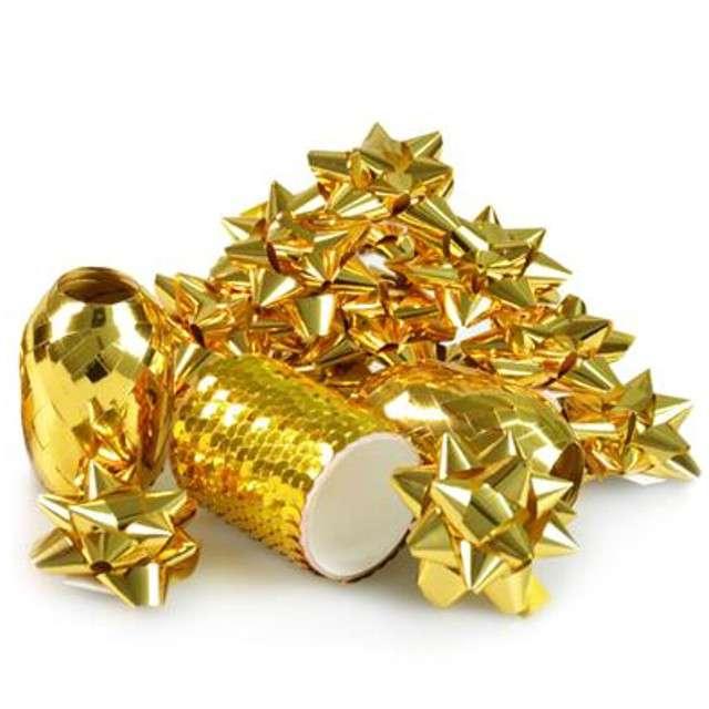 """Zestaw do dekoracji prezentów """"Classic"""", złoty, Arpex"""