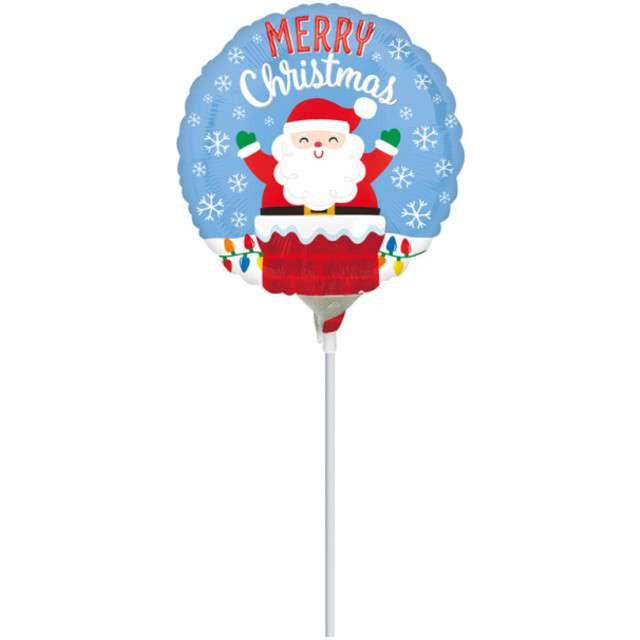 """Balon foliowy """"Święty Mikołaj w kominie"""", Amscan, 9"""""""