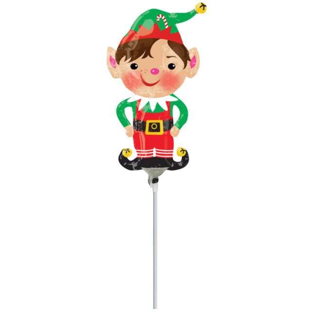 _xx_Mini Shape Jolly Christmas Elf Foil Balloon A30 flat