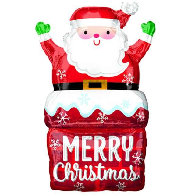 """Balon foliowy """"Święty Mikołaj w kominie"""", Amscan, 50 x 76cm"""