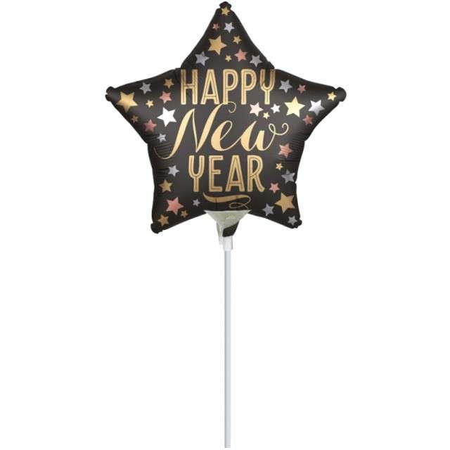 Balon foliowy Happy New Year satynowy Amscan 9
