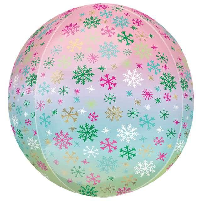 "Balon foliowy ""Orbz - Snowflake"", Amscan, 40 cm, ORB"