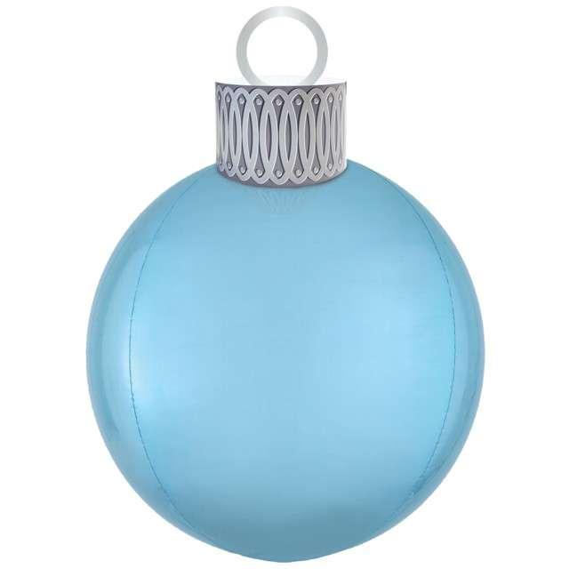 """Balon foliowy """"Bombka - Orbz XL"""", niebieski, Amscan, 38 x 50 cm, ORB"""