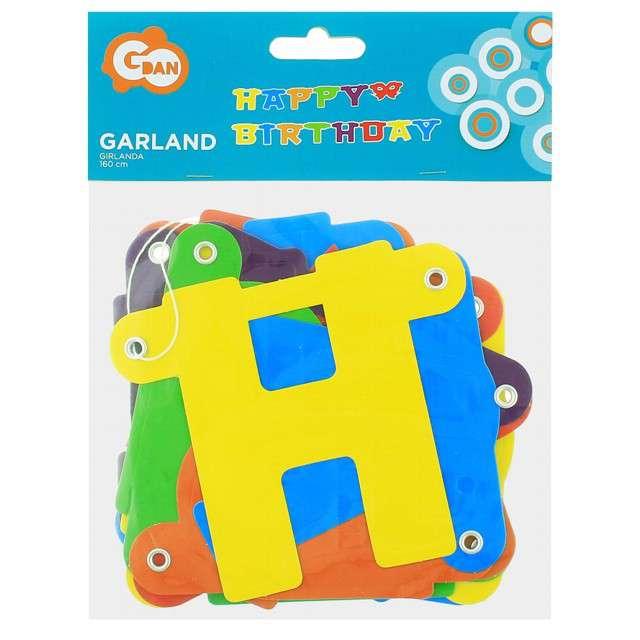 _xx_Girlanda papierowa Happy Birthday kolorowa 160 cm