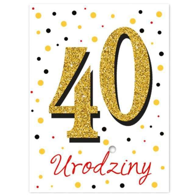 """Etykiety na butelkę """"40 urodziny """", 12,5x9,5 cm, 25 szt"""