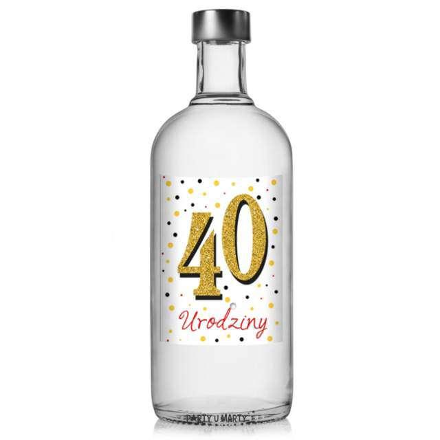 Etykiety na butelkę 40 urodziny  125x95 cm 25 szt