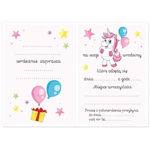 Zaproszenia urodzinowe Jednorożec Urodzinowy DekoracjePolska 10 szt