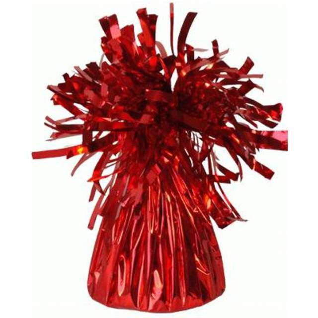 Obciążnik do balonów, foliowy, czerwony, Oaktree