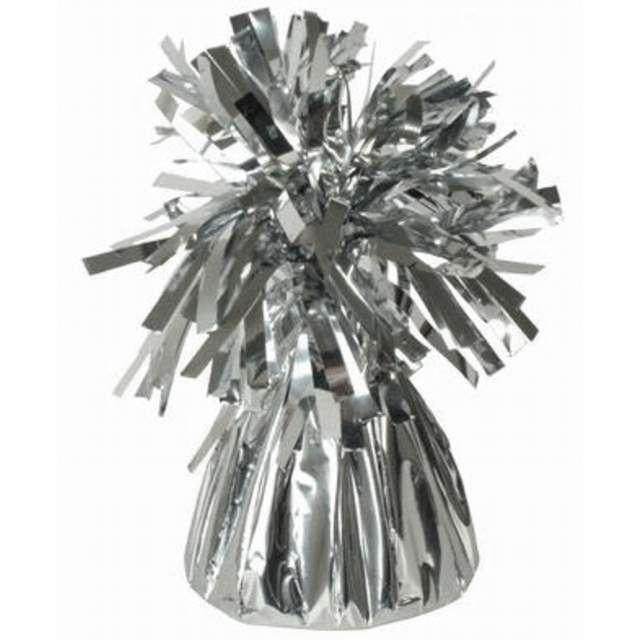 Obciążnik do balonów, foliowy, srebrny, Oaktree