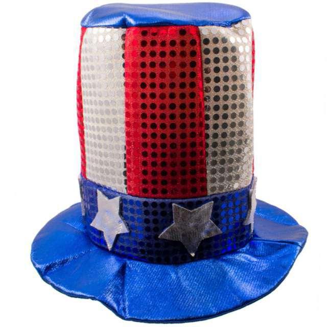 Kapelusz USA Party Cylinder Folat