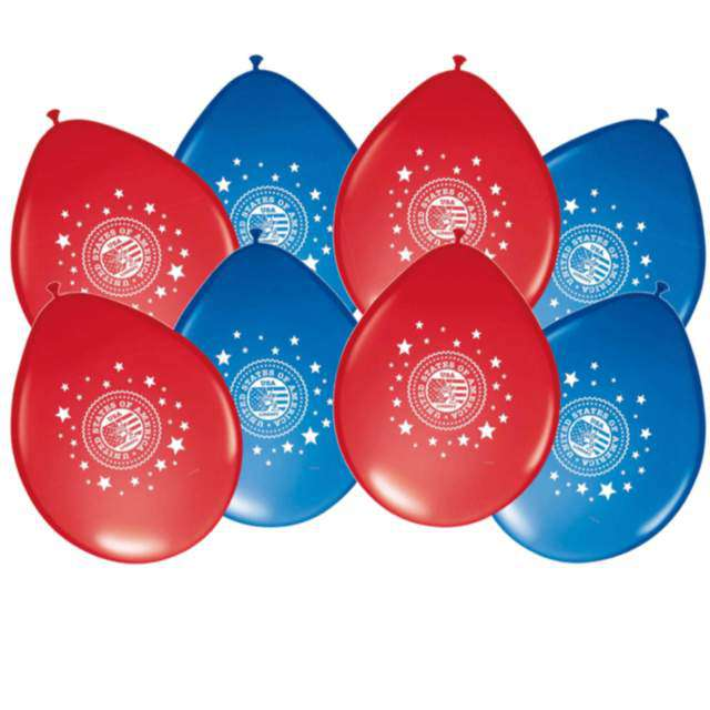 "Balony ""USA Party"", Folat, 11"", 8 szt."