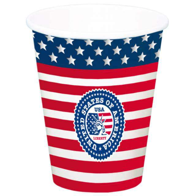 "Kubeczki ""USA Party"", Folat, 700 ml, 8 szt"