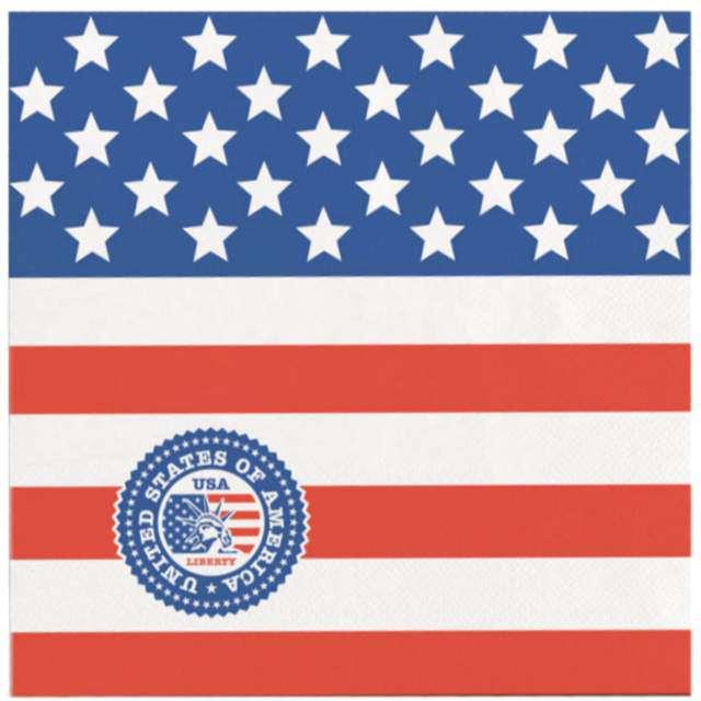 "Serwetki ""USA Party"", Folat, 25 cm, 20 cm"